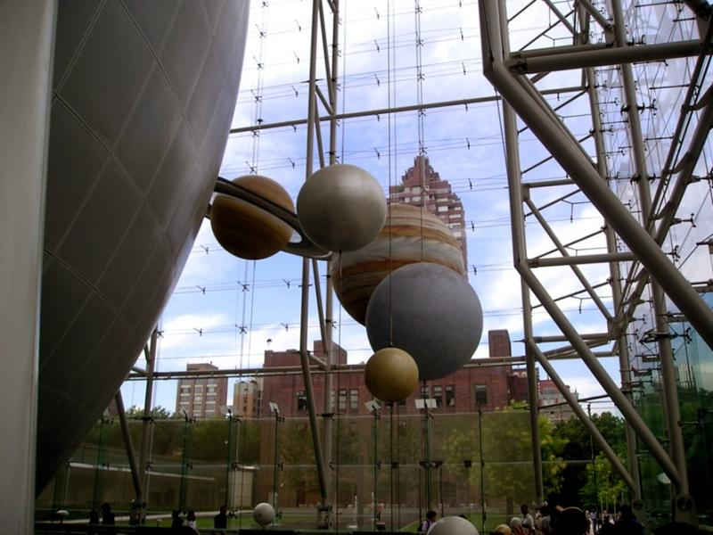 Planets at the Hayden Planetarium