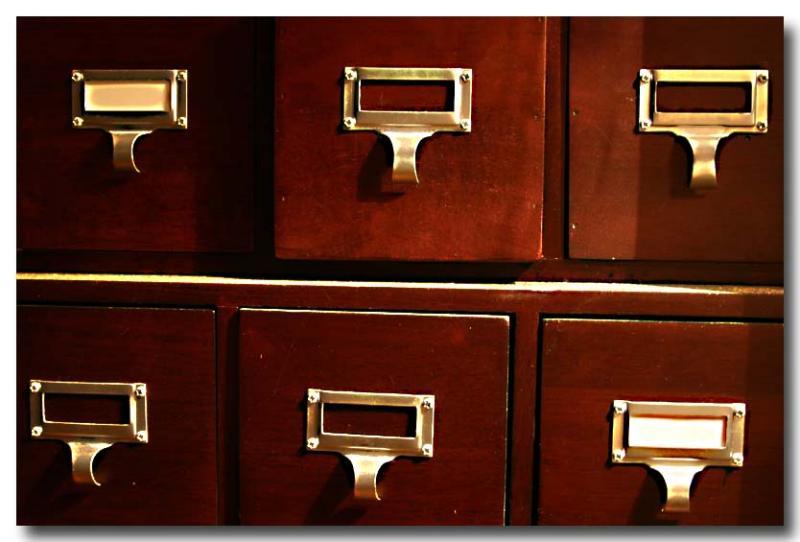 DRebel shot of dusty drawers ...