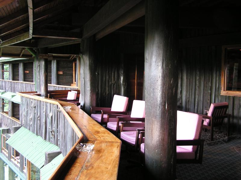 bar and viewing area