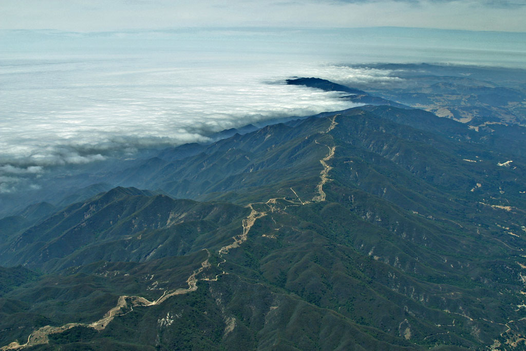 Marine layer, California coast
