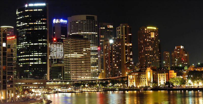 Panorama of Sydney at night