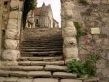 Escalier, église d'Auvers sur Oise