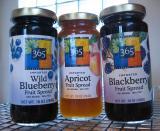 Juice sweetened fruit spread