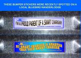 I RECENTLY SPOTTED THESE BUMPER STICKERS ON A BLUEBIRD WANDERLODGE