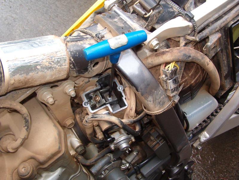 Allen wrench used to remove needle retainer screw.