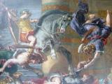 Famous Delacroix paintings inside the church