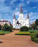 St. Louis Cathedral with Jackson Square in the foreground