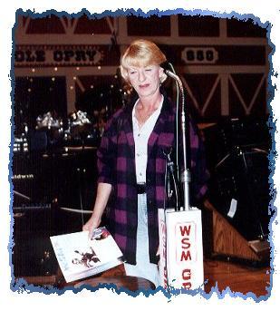 Linda on Opry stage
