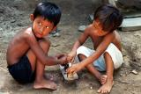 Kids Playing Traditional Amazonian Games