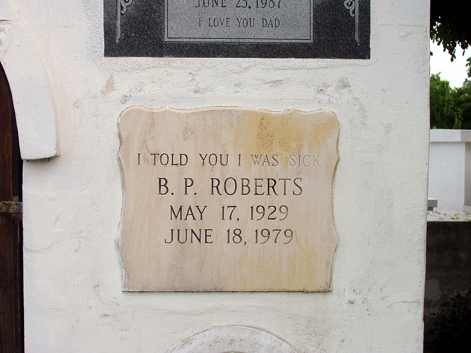 Famous Tombstone at Key West Cemetery