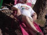 Jeff relaxing by T
