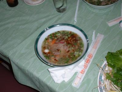 Sopa de Mariscos Vietnamita.