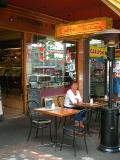Waiting for coffee in Lygon St