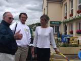 Bob Searl, Sr.-Patrick Elie-Florence Gaffie at DDay Cafe