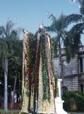 Kamehameha the Great statue decked in leis