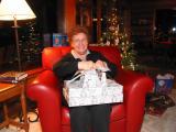 Grandma Maxine opening her presents