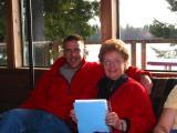 Steve and Grandma  at Dave and Darlenes Beach House