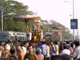 on the way back to the temple
