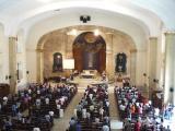 Mass at Church of Santa Cruz draws a good crowd on a Wednesday afternoon