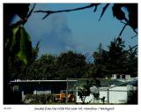 Smoke from fire near Mt. Hamilton