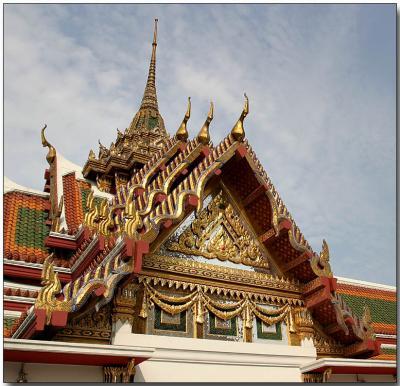 Wat Yannawa Temple roofline, Bangkok