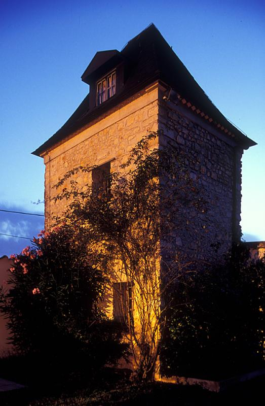 Tower of Chateau Pouyeau by Night