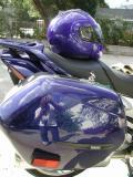 blue electro modular helmet