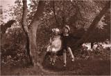 My mother  with here nice Maria in the park