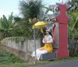 Painted man on Payangan Road