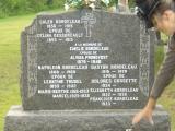 Pierre tombale d'Émilie Bordeleau à St-Stanislas