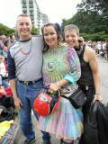 Pride Parade Vancouver 2002 with Glenn & Tamara
