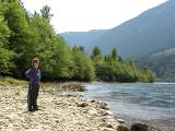 Rachel @ Lillooet Lake - summer 2001