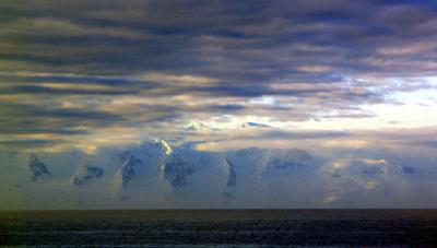 First sight, Antarctica, 2004