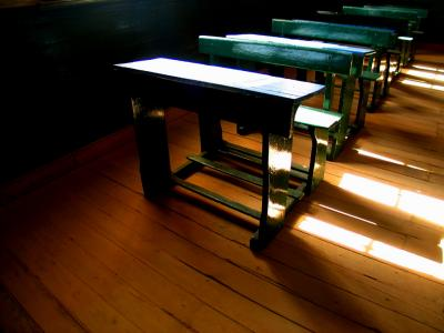 Schoolroom, Humberstone Ghost Town, Iquique, Chile, 2003