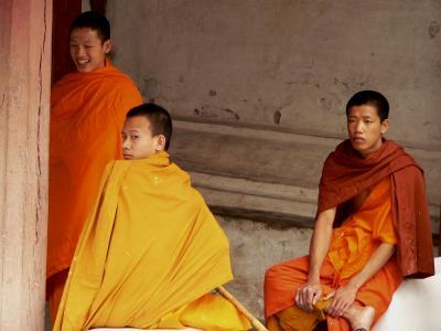 Poor Men in Rich Robes, Luang Prabang, Laos, 2005