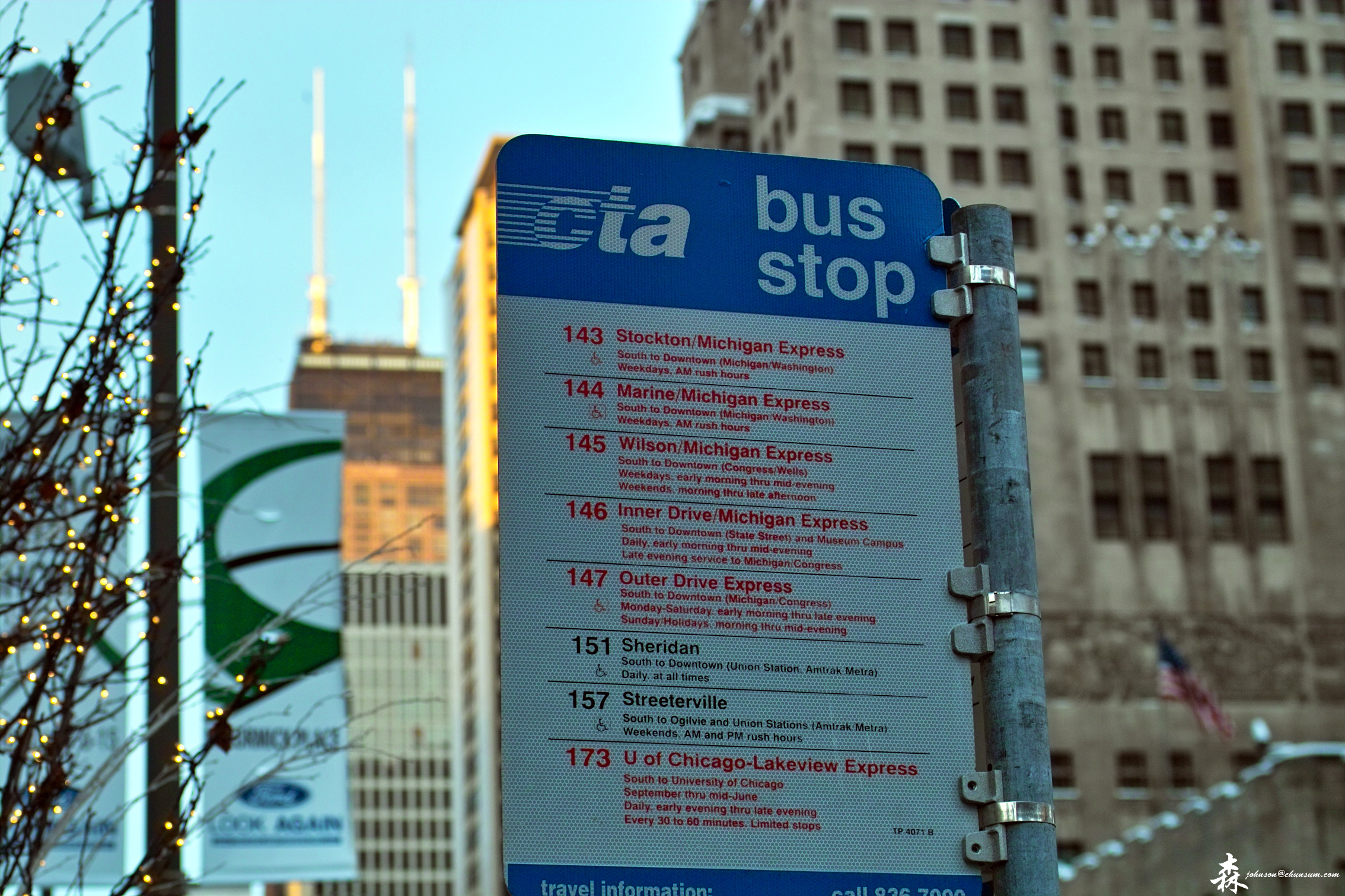 CTA Bus Stop Schedule photo - The Sigma Users Group