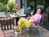 465-Relaxing in garden