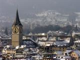 Zurich, St. Peter in winter