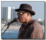 Bluesman on Pier