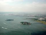 Liberty Island (left) & Ellis Island