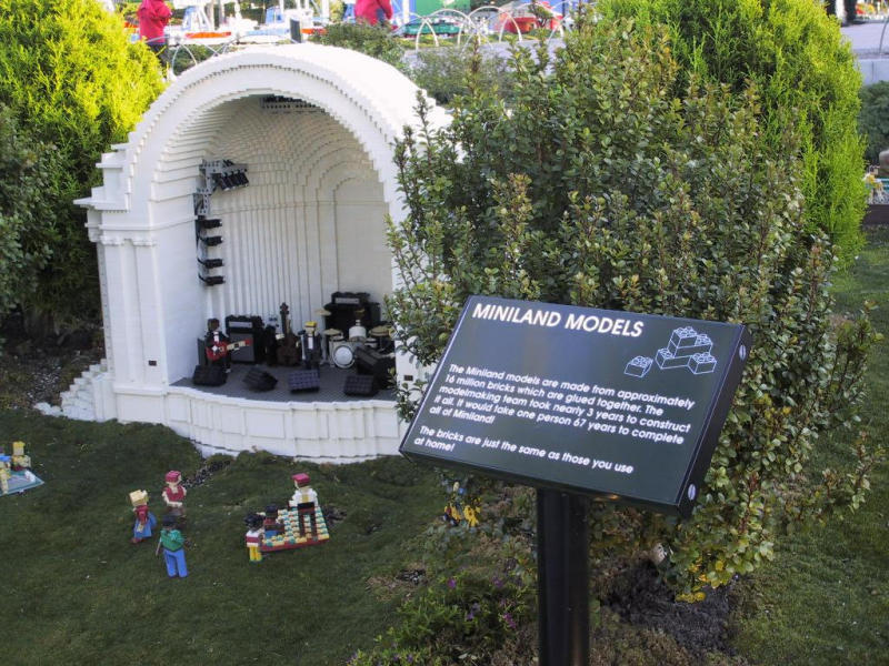 16 million Lego blocks and 3 years to assemble Miniland