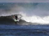 Happy Longboarder in an offshore breeze