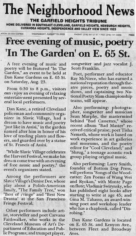 Article in The Neighborhood News