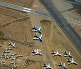Mothballed aircraft, Mojave desert