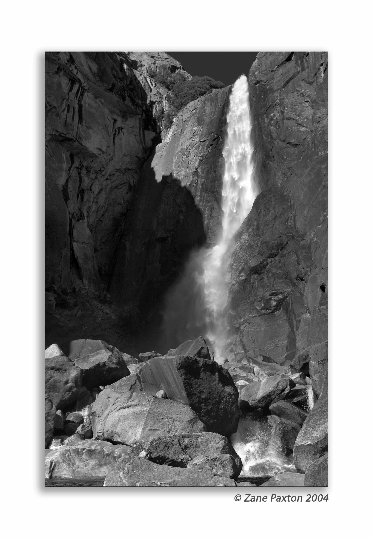 Lower Yosemite Falls-3 B&W