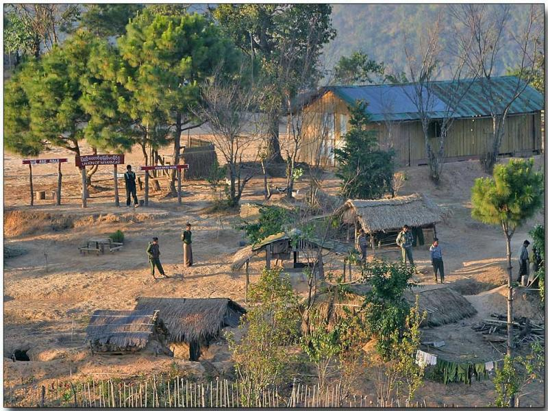 Myanmar border outpost - from the Thai side