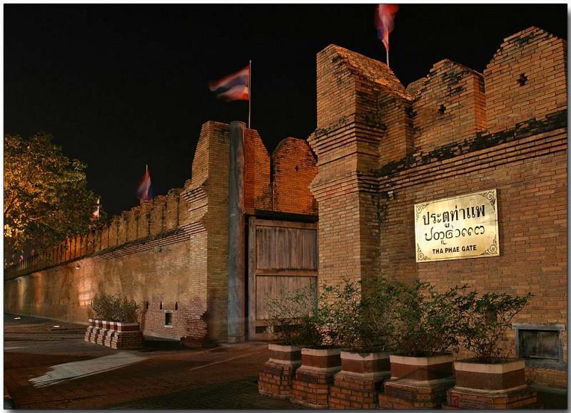 Tha Phae Gate, old city wall - Chiang Mai