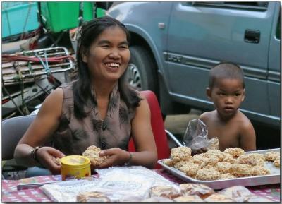 Sweets and a smile - Bangrak Market, Bangkok