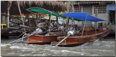 Long-tailed boats - near Damnoen Saduak, Thailand