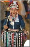 Hilltribe lady selling her crafts in the night market